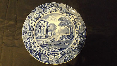 Colpeland Spode's Italian, China Blue and White Dinner Plate,