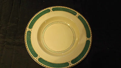 Booths, Collectable China Soup Plate, Cream, Gold and Green,Jenners of Edinburgh