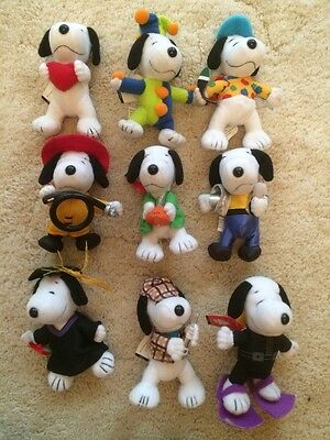 Snoopy Collectable McDonald's Toys Vintage 2001 With Tags Bulk Lot