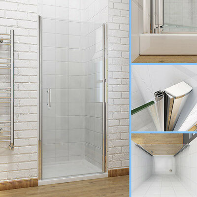Frameless Pivot Hinge Shower Doors Shower Cubicle and Tray 6mm Glass Screen