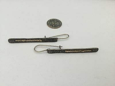 Gorgeous Silpada Earrings, Hammered Sterling Silver & 14K Gold, Drop/Dangle.