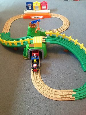Fisher Price Geotrax Train Set Complete With Train And Driver.  Mountain, Shops