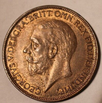 GB 1927 George V Penny Uncirculated Coin