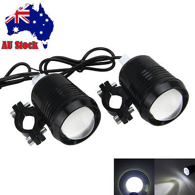 2 PCS U2 LED Motorcycle Bike 30W Driving Fog Head Spot Light Lamp Headlight