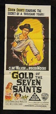 Daybill Movie Poster - Original - Gold Of The Seven Saints - Roger Moore