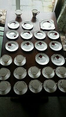 Royal Stafford Roses to Remember 39 piece tea set