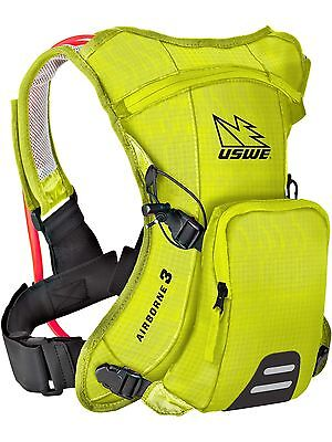 USWE Crazy Yellow Airborne 3 - 1 Litre (With 2 Litre Bladder) Hydration Pack