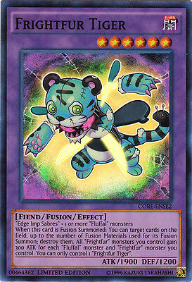 YuGiOh Frightfur Tiger - CORE-ENSE2 - Super Rare - Limited Edition Near Mint