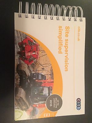 Site Supervision Simplified CITB GE 706 2016 Official Book