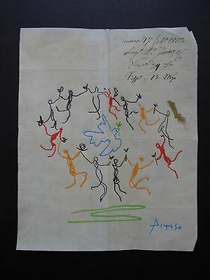 Pablo Picasso  Drawing  On Paper Signed . Private Collection - ---  --