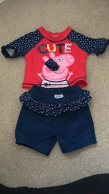 Baby Girls Swimming Costume Outfit Peppa Pig - Mothercare- Size 12-18 Months