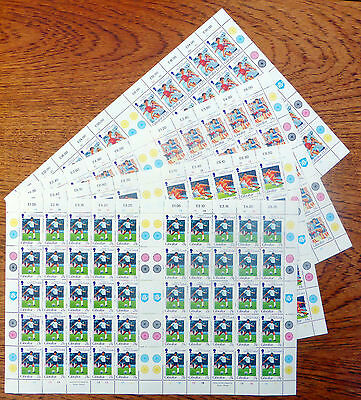 GIBRALTAR Wholesale 1996 Football (4) Complete Sheets of 50 Face £99.50 FP6224