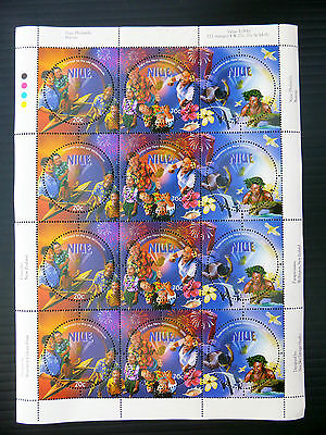 NIUE Wholesale 1999 Set of 3 New Millennium in Sheetlet of 12 (4 Sets) FP2575