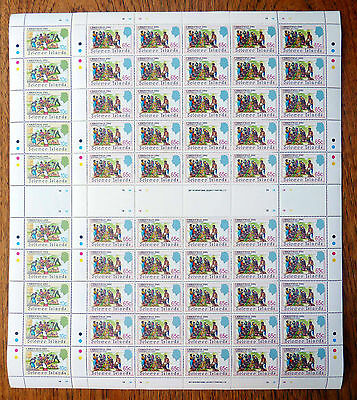 SOLOMON ISLANDS Wholesale 1991 Xmas 10c & 65c Sheets of 50 SALE PRICE FP2526