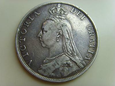1891 Silver Florin Queen Victoria British Coin Great Britain Two Shillings