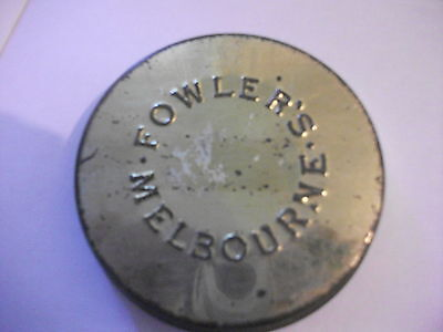 Collectible Vintage Fowlers Vacola Melbourne lid 3 inch Rare
