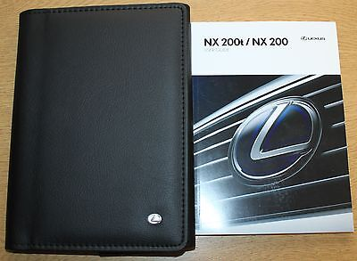 LEXUS NX200t NX200 HANDBOOK USER GUIDE WALLET 2014-2016 PACK 2875