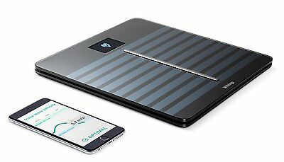 Withings Body Cardio Heart Health and Body Composition Wi-Fi Scale, Black, 5.7