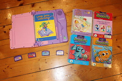 LeapFrog LeapPad Learning System + 4 Games Princess Nemo Winnie Pooh Monsters In