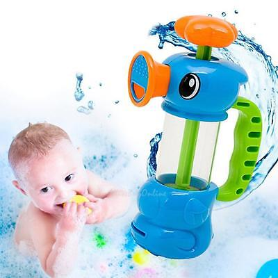 Fun Baby Bath Shower Water Pumping Play Toys Hippocampal Shape Toddler Toy Gift