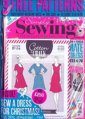 Simply Sewing Magazine Issue 23 (new) with 3 patterns 2016