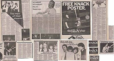 THE KNACK : CUTTINGS COLLECTION -adverts interviews-
