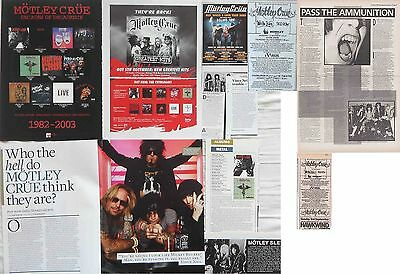 MOTLEY CRUE : CUTTINGS COLLECTION -adverts interviews-