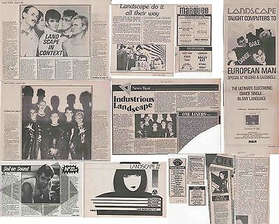 LANDSCAPE : CUTTINGS COLLECTION -adverts interviews-