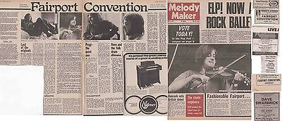 FAIRPORT CONVENTION : CUTTINGS COLLECTION -adverts interview-