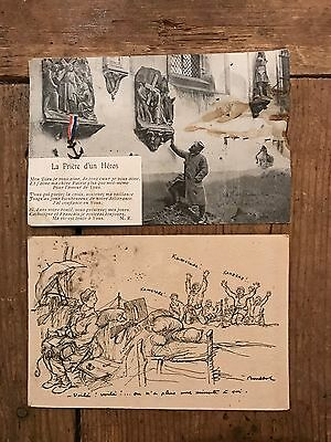 WW1 French Postcards - Posted