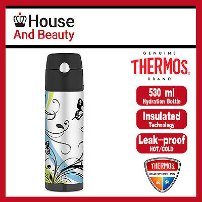 NEW Thermos S/Steel Vaccum Insulated Hydration Drink Bottle 530ml Butterfly