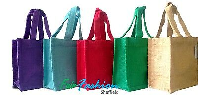 Jute Hessian Colourful Small Lunch / Gift bag / Pouch - Natural & BioDegradable