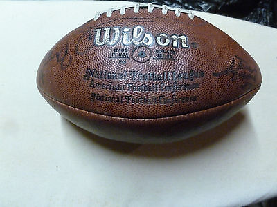 Cleveland Browns 80's Autographed Game Football