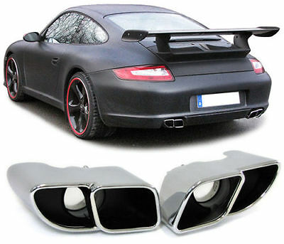Sport Tail Exhaust Pipe Trims For Porsche 911 Carrera 997 S Model Nice Gift Item