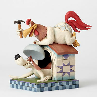 LOONEY TUNES Skulptur by Jim Shore - Foghorn Leghorn and Dawg - Enesco 4052815