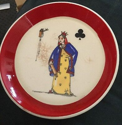Old WADE Queen Of Clubs Dish