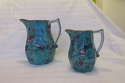 Matched pair of Davenport stoneware jugs.