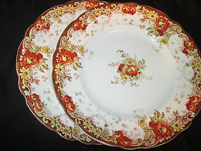 Alfred Meakin English Porcelain Pair Of Dinner Plates In Medina