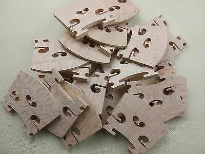 30 pcs Medium grade 4/4 violin Bridges. violin parts accessories