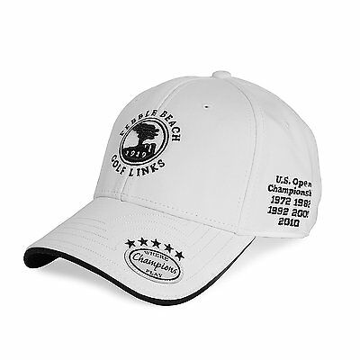 Pebble Beach Mens Championship Golf Hat - White