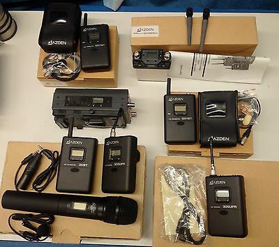 Lot Azden UHF Receiver Wireless micro Transmitter Pack System for Video Camera
