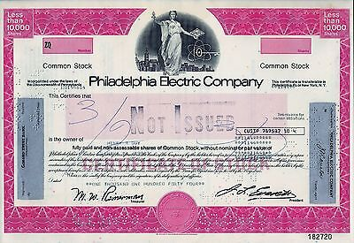 Philadelphia Electric Company (1.144 Shares) Teilblankette not issued