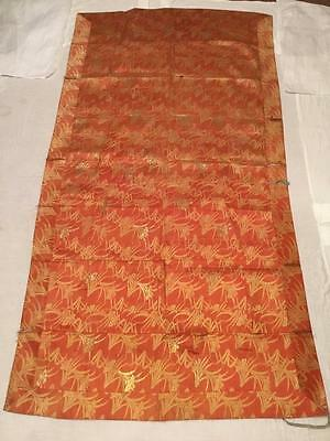 ANTIQUE 19th c MEIJI PERIOD BROCADE SILK JAPANESE KESA CHINESE EMBROIDERED!