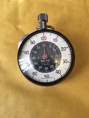Vintage BALMA stopwatch, 7 Jewels