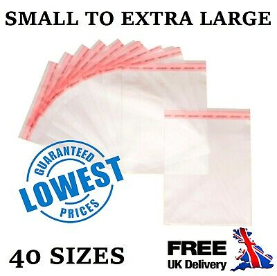 Clear Cello Display Bags Self Seal For Cards Prints Wrap Sweets Candy Cellophane