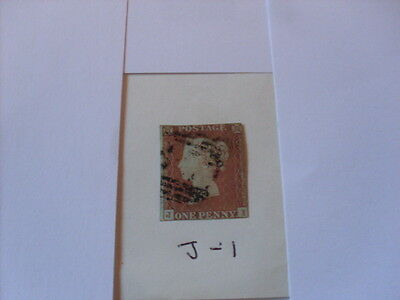 Queen Victoria 1841 Penny Red  J - I  Imperforate
