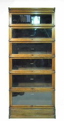 Antique Oak Globe Wernicke 6  Stack Bookcase Barristers Sectional Bookcase