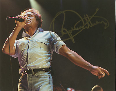 """Roger Daltrey """" English Rock Singer - The Who """" In Person Signed Photograph."""