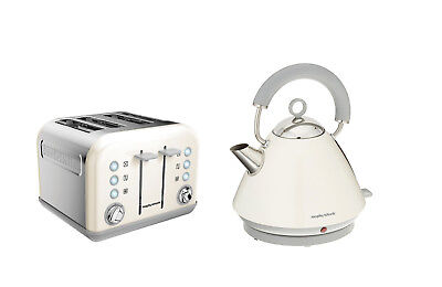 Morphy Richards Accents Kettle And Toaster Set In White S/Steel 102031 / 242032
