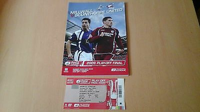 Millwall V Scunthorpe 2009 Play Off Final Programme   Ticket